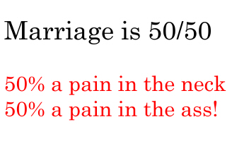 Marriage is 50/50