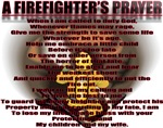 A FIREFIGHTER'S PRAYER