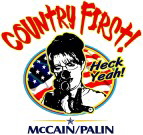 Palin w/ Gun Heck Yeah!