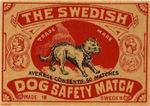 Swedish Dog Matchbox  Label II