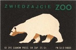 Polar Bear Matchbox Label