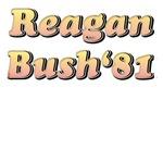 Retro Reagan Bush 81