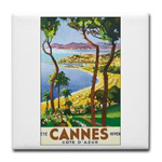 Cannes Retro Travel Poster