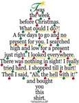 Christmas Tree Poem Gift Shirt