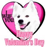 American Eskimo Dog  Valentines Day Gifts