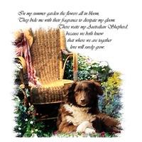 Summer Garden Dog Art