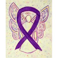 Purple Awareness Ribbon Angel