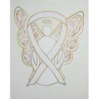 White Awareness Ribbon Angel
