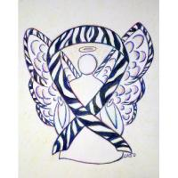 Zebra Awareness Ribbon Angel