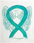 Teal Awareness Ribbon Angel