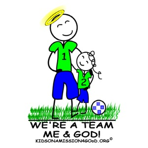 We're a Team - Me & God (girl)