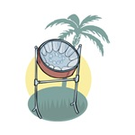 Steel Drum and Palm Tree