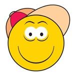 Baseball Hat Smiley Face