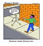 STICK MAN MEETS STICKUP MAN