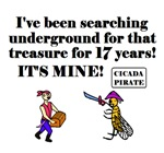 CICADA FINDS TREASURE AFTER 17 YEARS