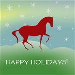 Happy Holidays Dressage Horse