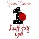 1 Ladybug Birthday Girl - Your Name