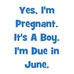 Pregnant w/ Boy due in June