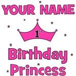CUSTOM 1st Birthday Princess with YOUR NAME