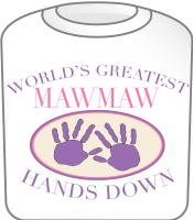 Best Mawmaw Hands Down T-shirt Design
