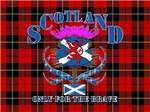 Scotland only for the brave saltire