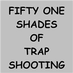 a funny trap shooting joke on gift's and t-shirts.