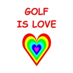A funny golf joke on gifts and t-shirts.