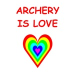 a great archery joke on gifts and t-shirts.