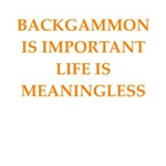 a funny backgammon joke on gifts and t-shirts..