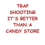 a funny trapshooting joke on gifts and t-shirts.