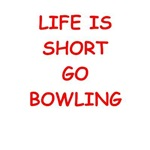 a funny bowling joke on gifts and t-shirt.