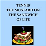 a funny tennis joke on gifts and t-shirts.