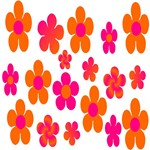 Hot Pink and Orange Floral