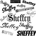 Sheffey fonts in Black 9558