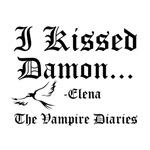 I Kissed Damon, black w/raven