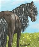 HORSES - FRIESIAN HORSE PAINTING