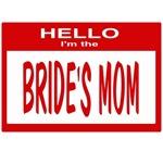 Brides Mom Nametag (red)