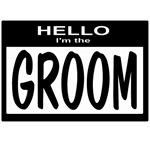 Groom Nametag (black)