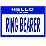 Ring Bearer Nametag (blue)