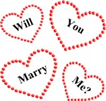 Will You Marry Me Hearts Design