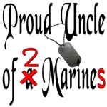Proud Uncle of 2 Marines with dog tags