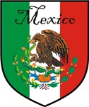 Mexico Flag Crest Shield