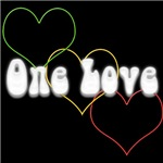 'ONE LOVE' Reggae T-Shirts and Apparel