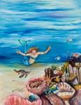 Mermaid and Sea Turtles