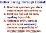Living Through Denial