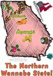 GA - The Northern Wannabe State! (2003 flag)