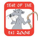 Year of The Rat 2008 T-Shirt & Gifts