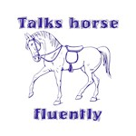 Talks Horse - purple