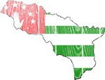 Abkhazia Flag And Map