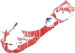 Bermuda Flag And Map
